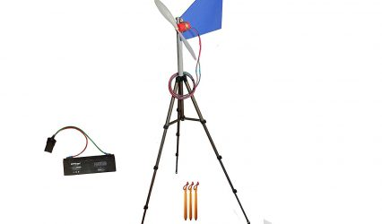 Travel Wind Turbine Generator with Battery
