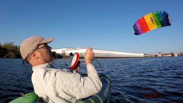Kayak Kite Sailing Summer 2019